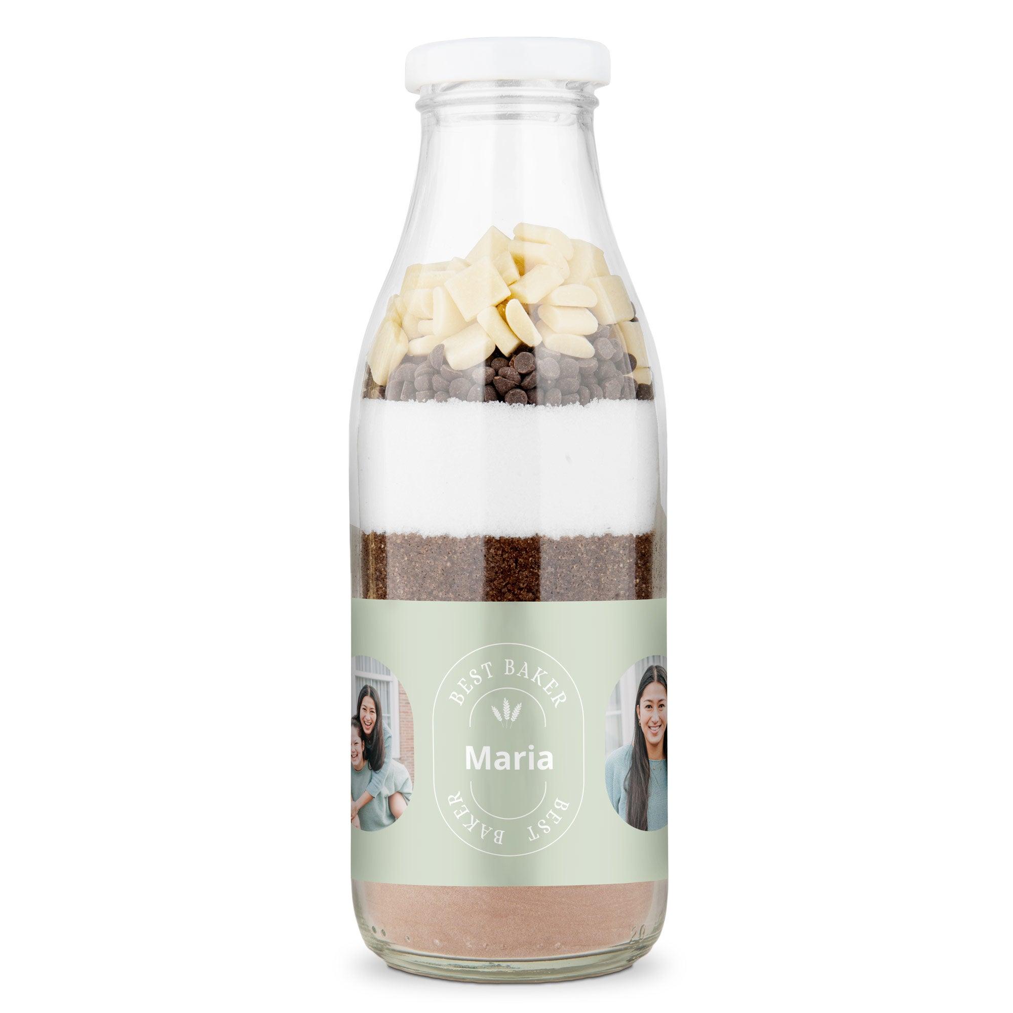 Leivontaseos pullossa - tuplasuklaa brownies