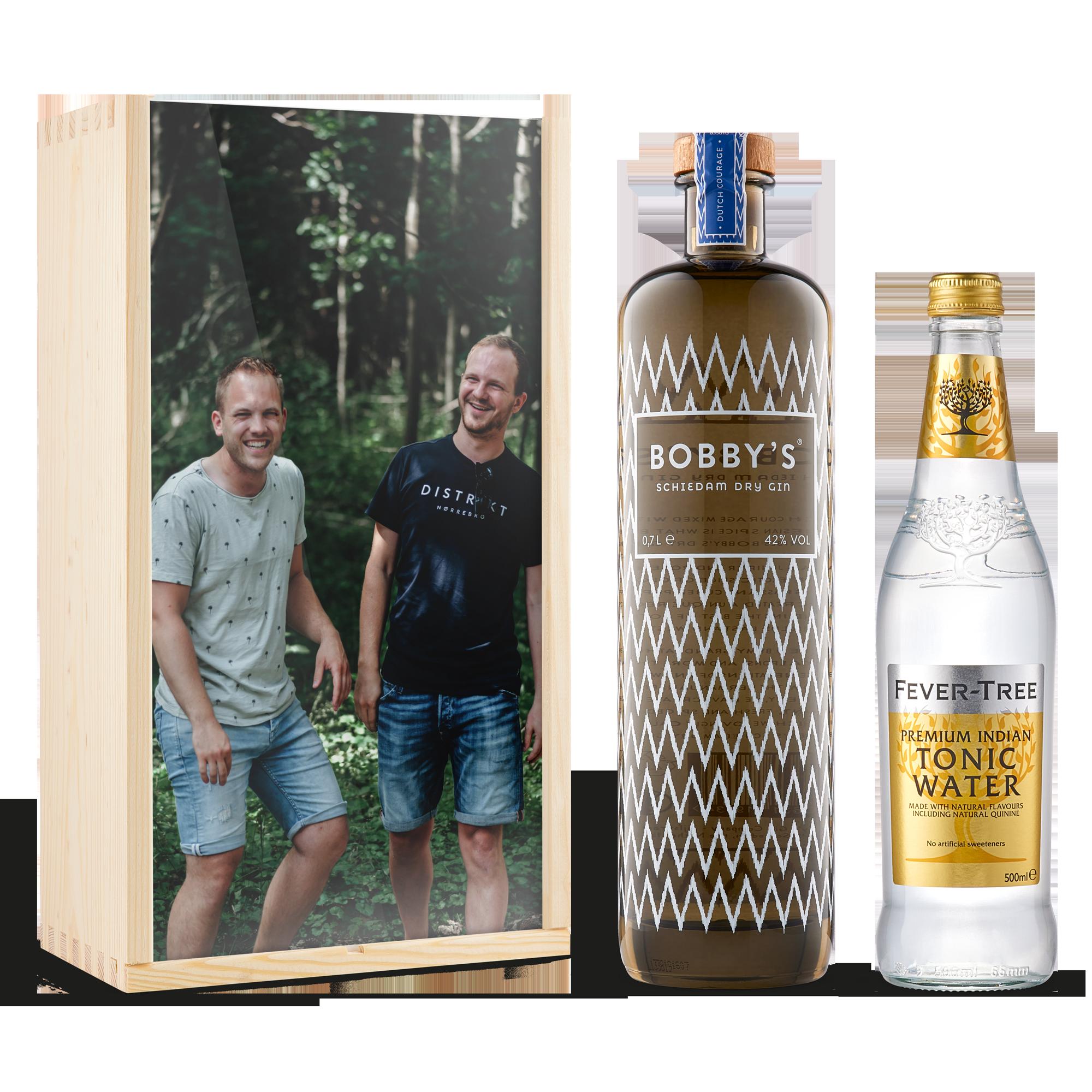 Gin-tonic pakket bedrukken - Bobby's gin (glanzende deksel)