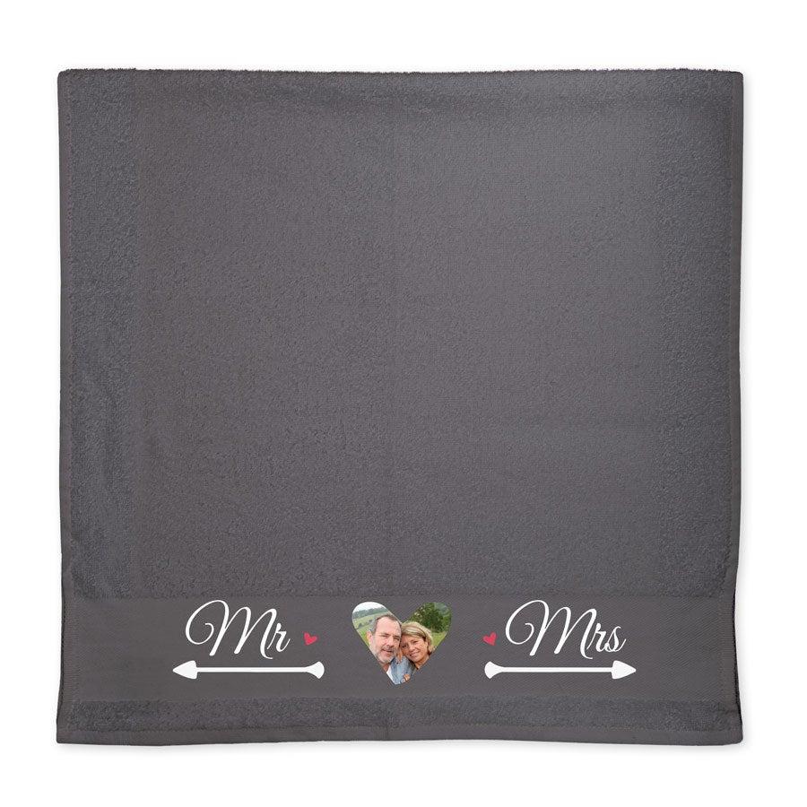 Handtuch mit Foto - Antrazit