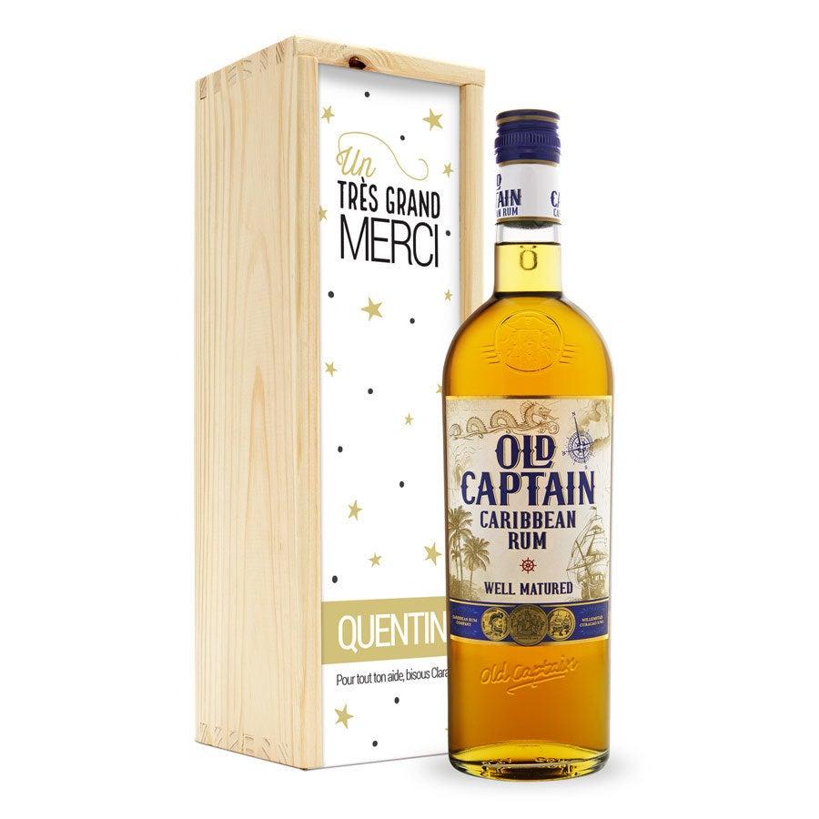 Rhum - Old Captain Brun - coffret gravé