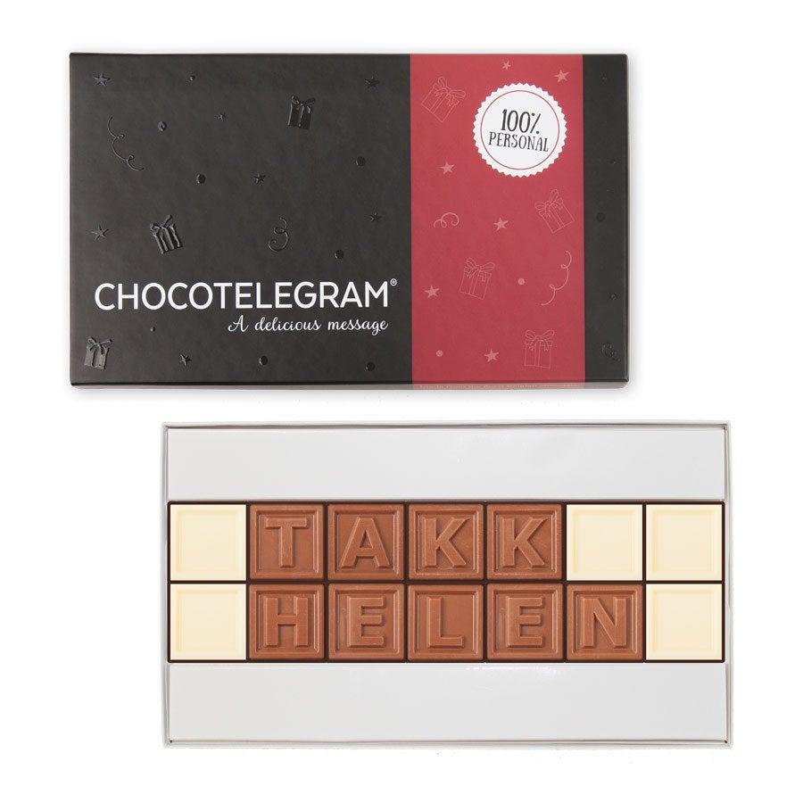 Sjokolade telegram - 14 tegn
