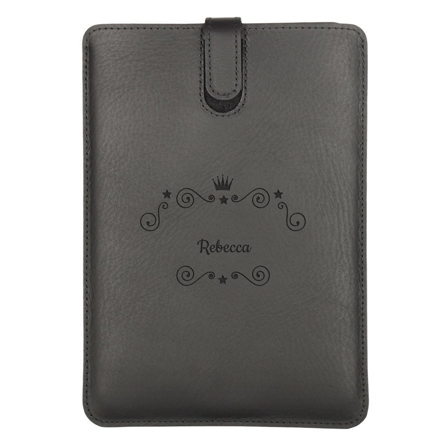 iPad Mini 3 leather case - Black