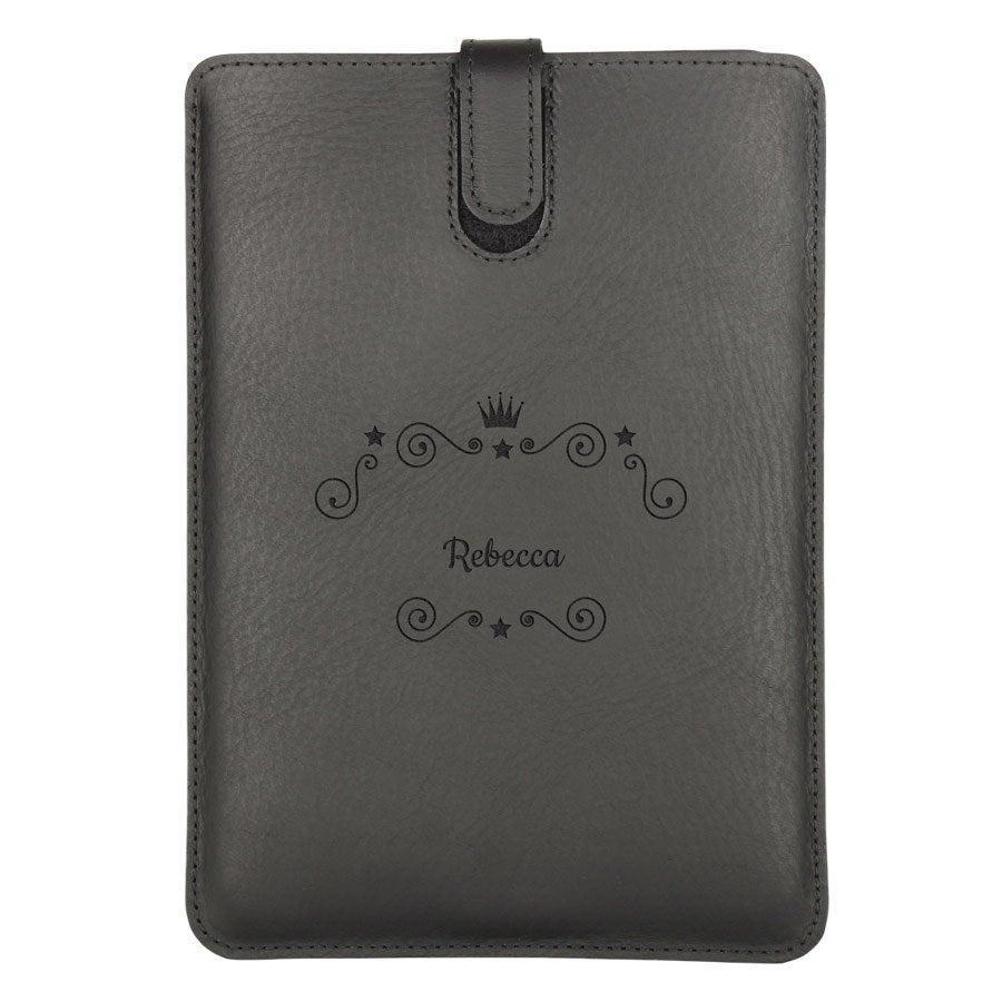 Läderfodral iPad Mini 3 med namn - Svart