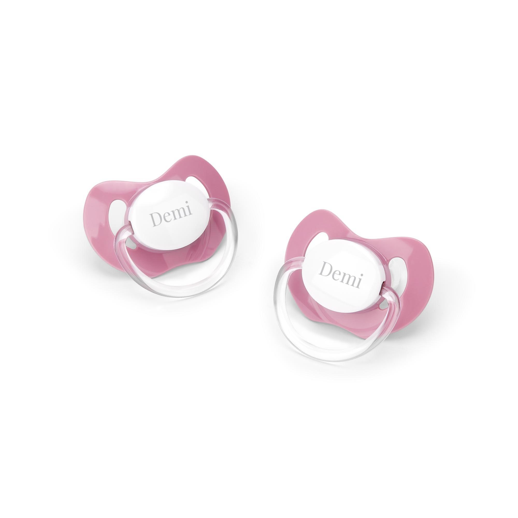Spenen set met naam bedrukken - Roze