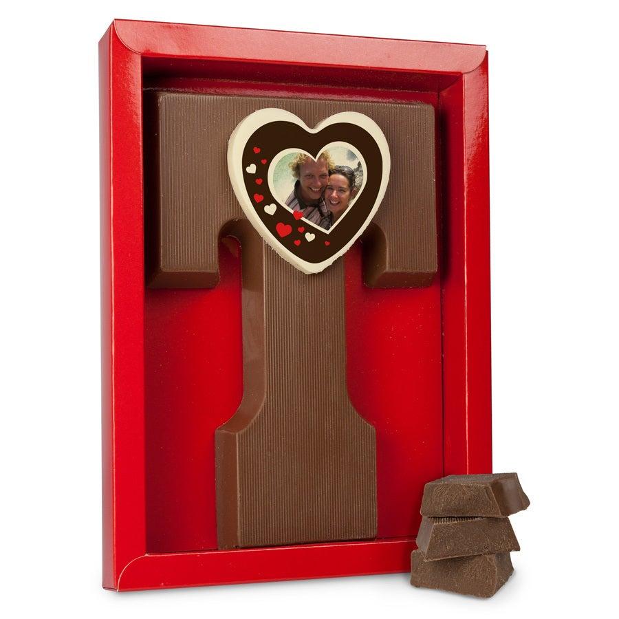 Schokoladenbuchstaben - Liebe