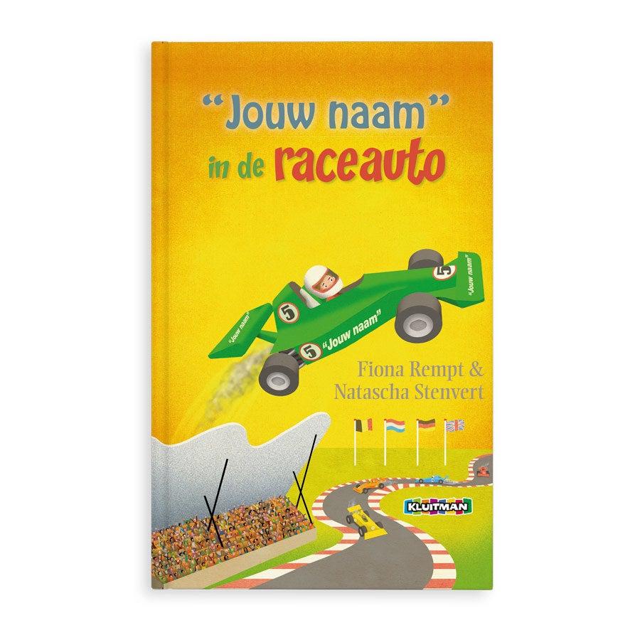 Boek met naam - Daan in de raceauto (Hardcover)