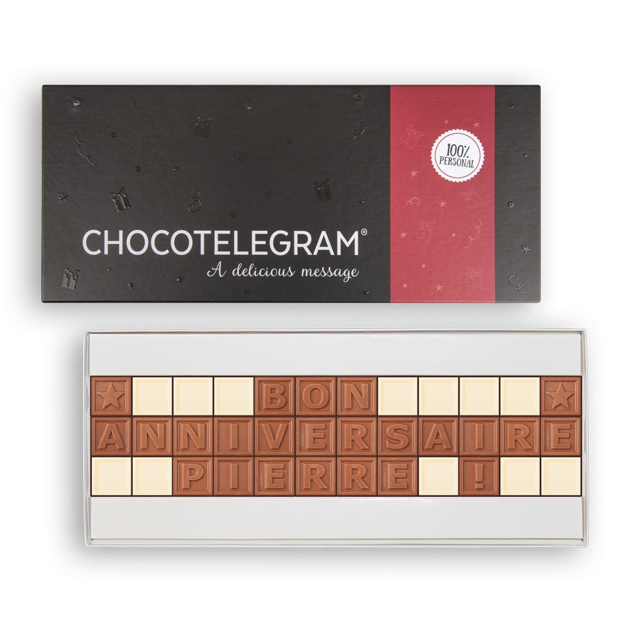 Chocotelegram - Coffret cadeau 3 x 12