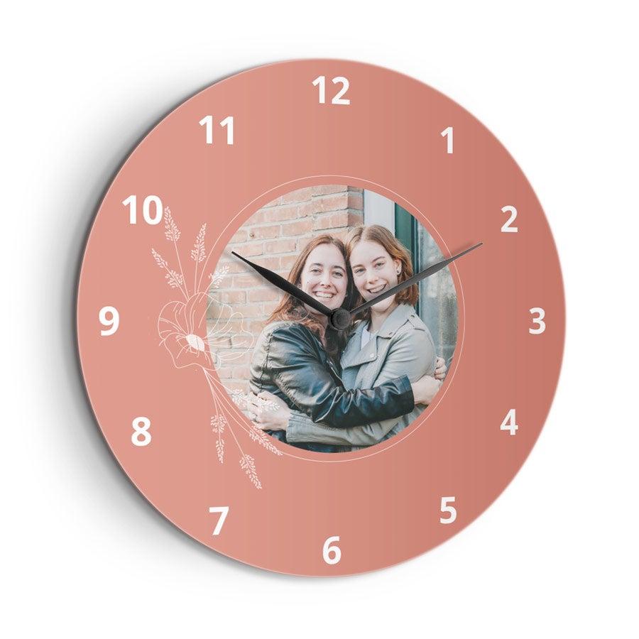 Reloj de pared con foto - Grande (Hardboard)