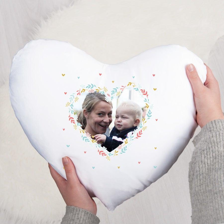 Mors dag pude - hjerte (med påfyldning)