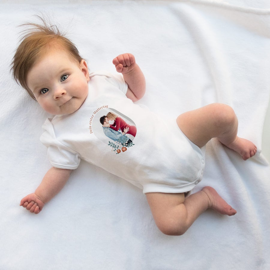 Baby Body erster Muttertag - weiß - 50/56