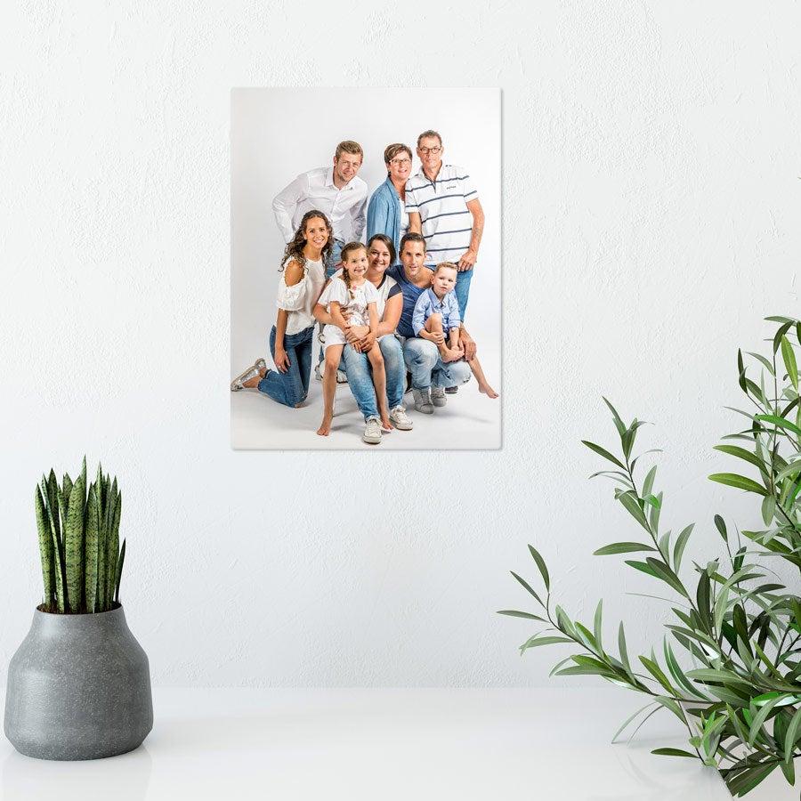 Foto op aluminium -  Wit (ChromaLuxe) - 15 x 20