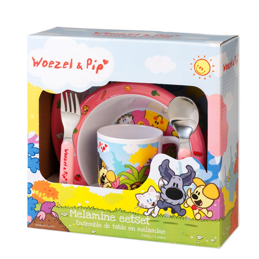 Woezel en Pip - Kinderservies Roze