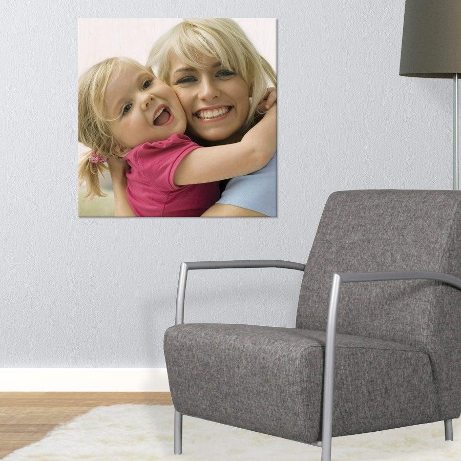 Puinen valokuvataulu (60x60cm)