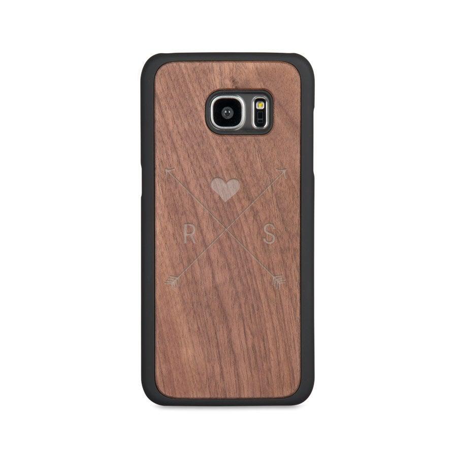 Houten telefoonhoesje graveren - Samsung Galaxy s7 edge