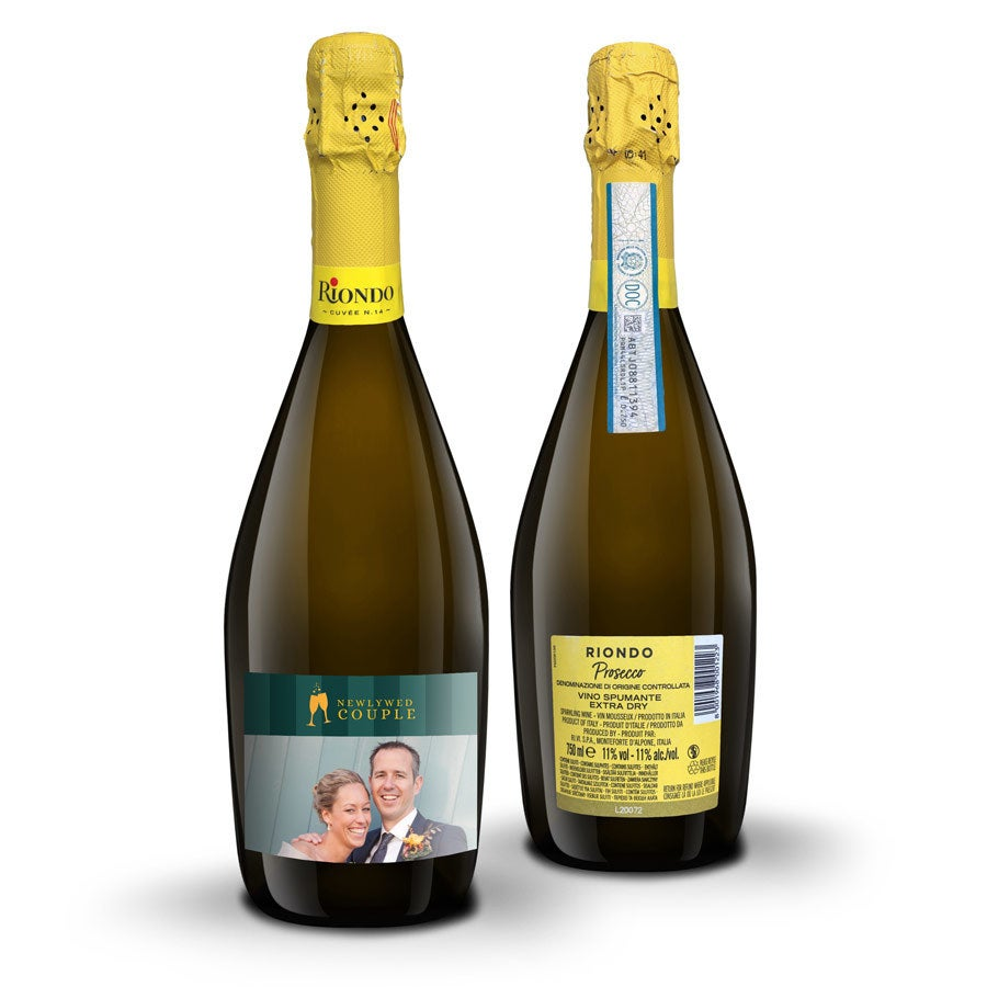 Wijn met bedrukt etiket - Riondo Prosecco Spumante