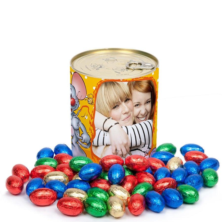 Doodles Lata personalizada con dulces - Huevos de Pascua
