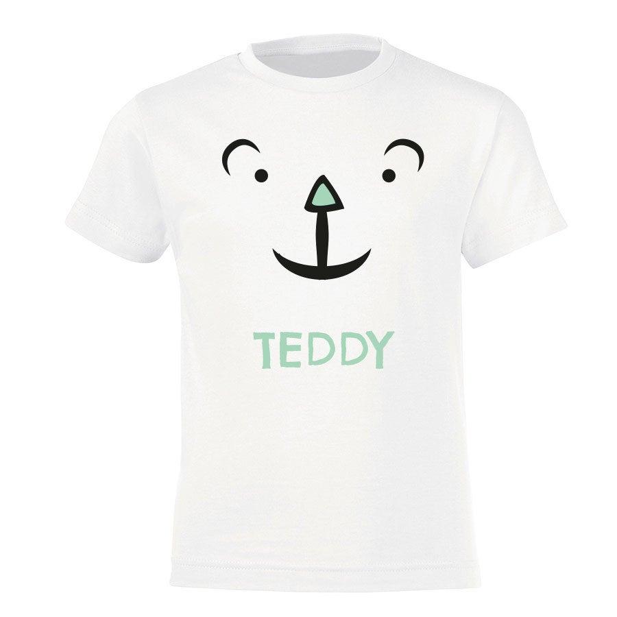 T-paita omalla painatuksella - Lapset - Valkoinen - 122