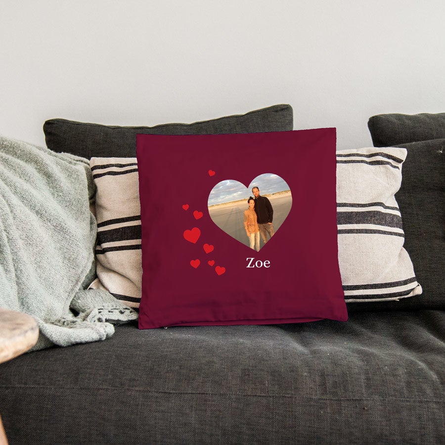 Love Throw Tyyny - Medium täynnä täytettä - Burgundy