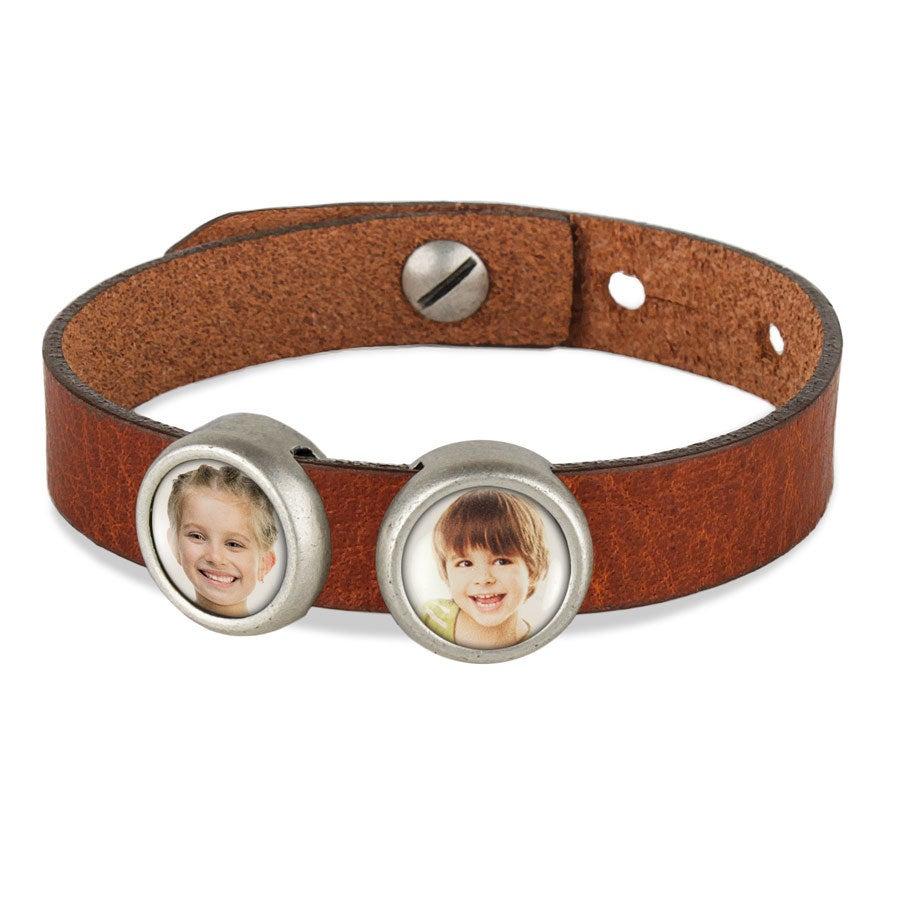 Individuellschmuck - Schiebeperlen Armband braun 2 Perlen - Onlineshop YourSurprise