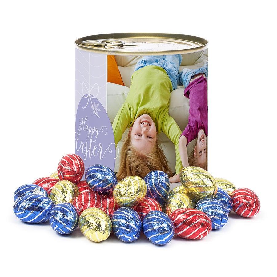 Tinn av søtsaker - påskeegg