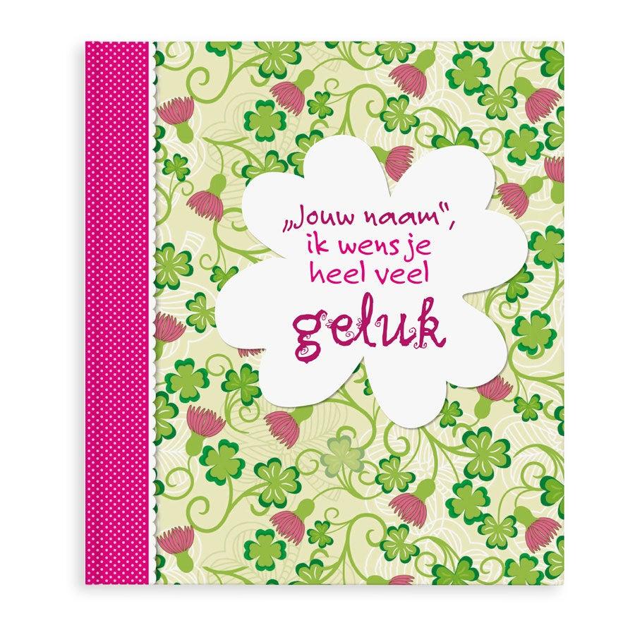 Boek met naam en foto - Ik wens je heel veel geluk - Softcover