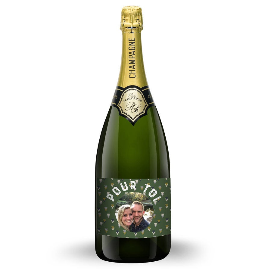 Bouteille Champagne René Schloesser 1,5L - Étiquette imprimée