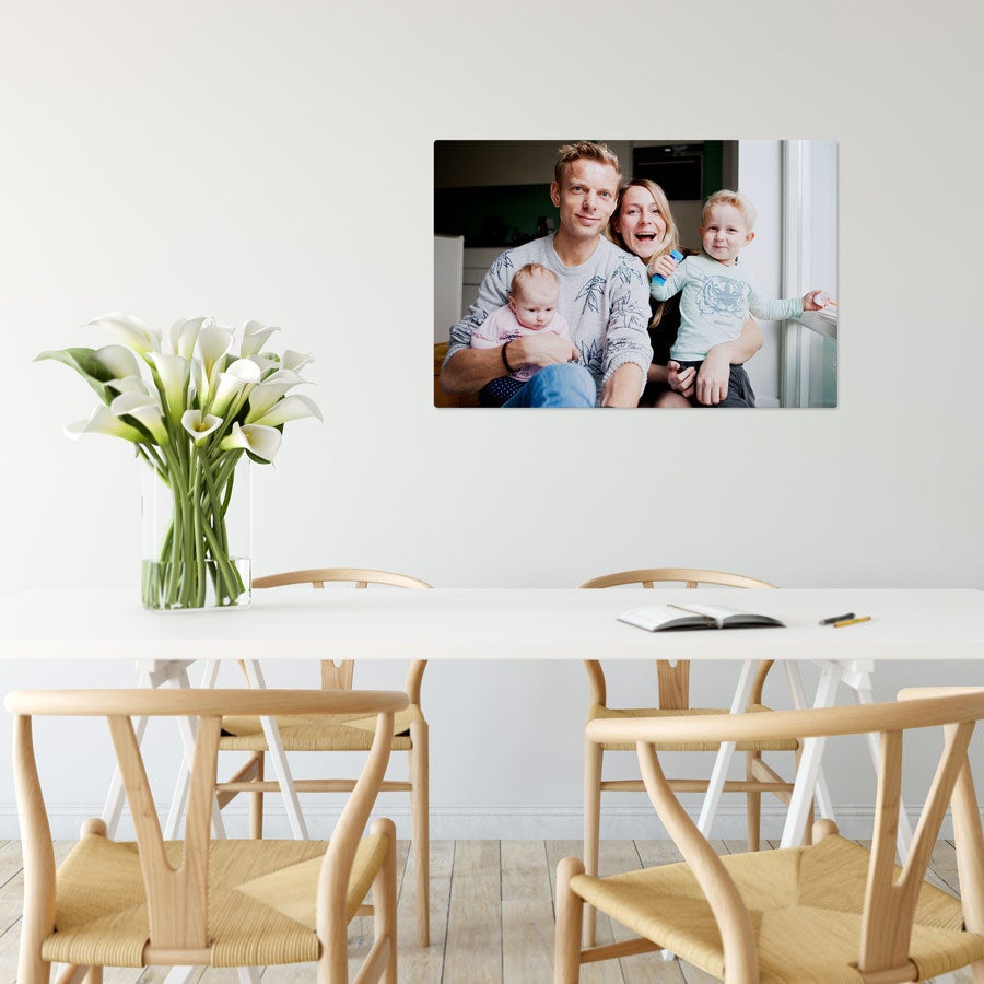 Foto op aluminium - Wit (ChromaLuxe) - 75 x 50