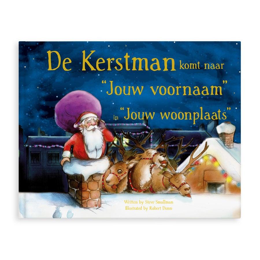 Boek met naam en foto- De kerstman komt - Hardcover