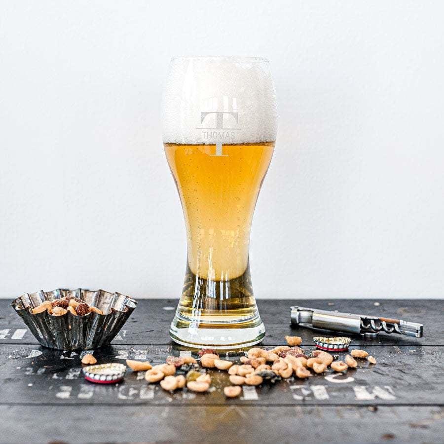 Weizenbierglas mit Gravur (2 Stück)
