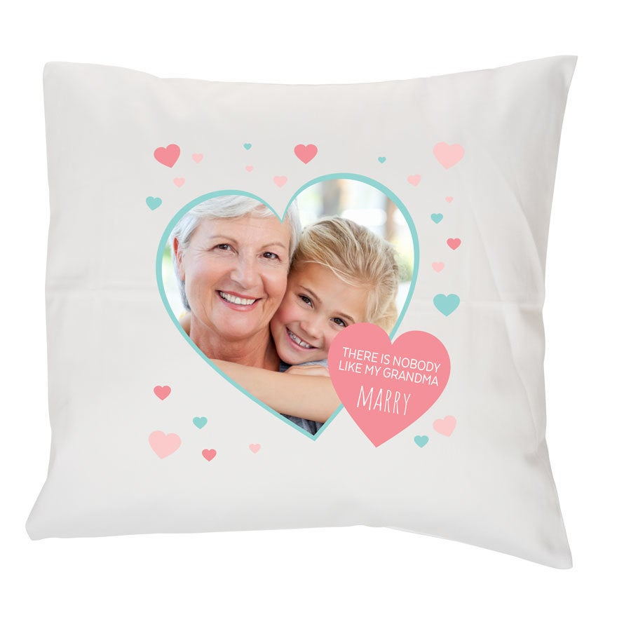 Grandma photo cushion (white)
