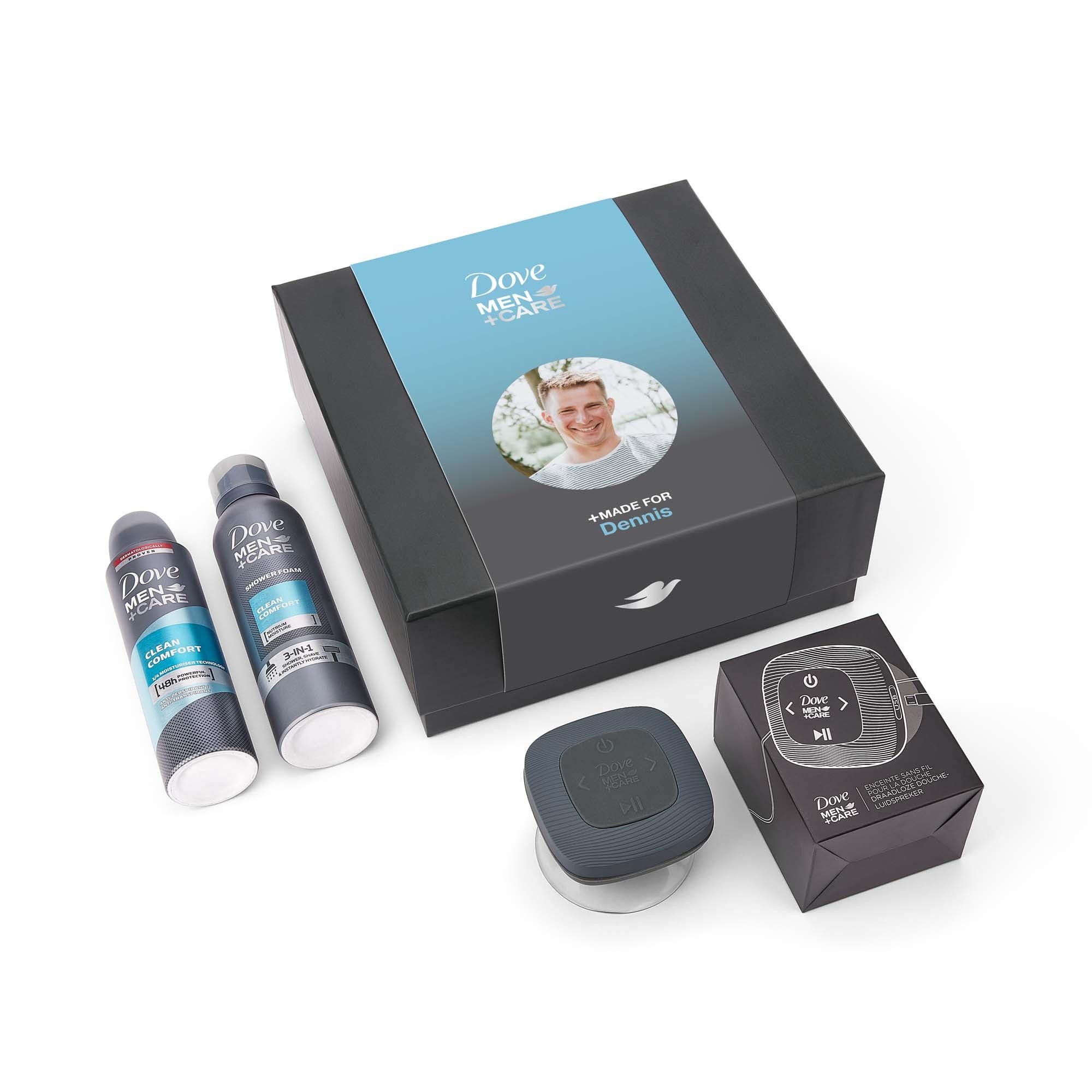 Dove Men+Care geschenkset maken - showerspeaker