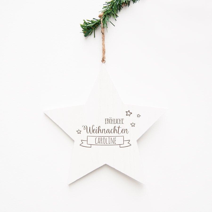 Weihnachtsdeko - Holzstern Weihnachten