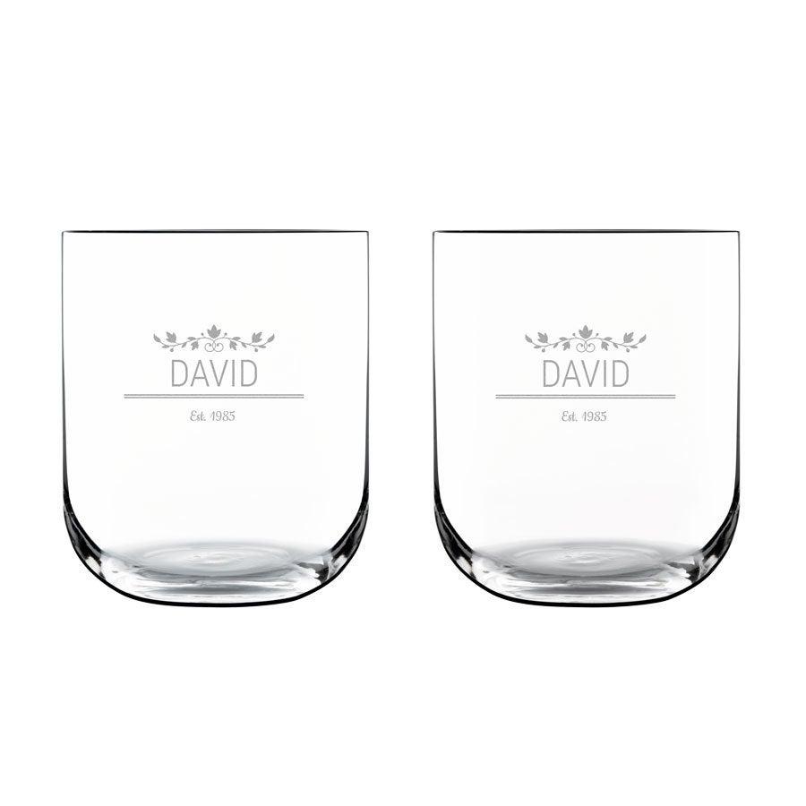 Lyxigt personligt vattenglas (2 st)