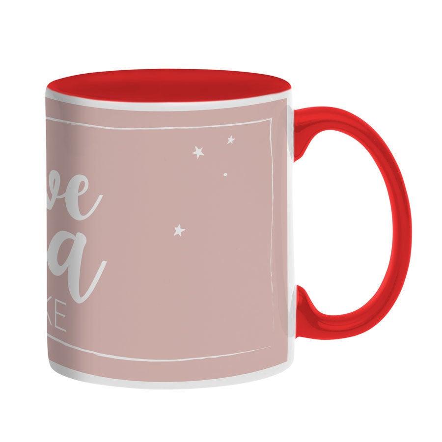 Tassen beschriften - Tasse mit Namen - Rot