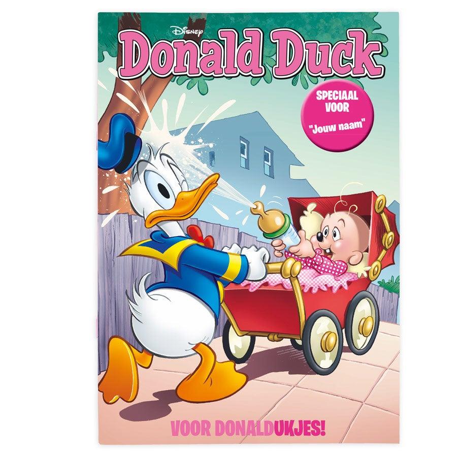 Tijdschrift met naam - Donald Duck - Geboorte (meisjesversie)