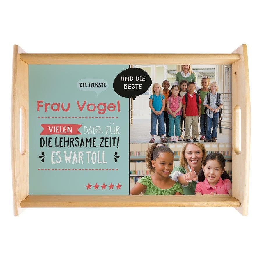 Individuellküchenzubehör - Fototablett Lehrer Groß Beige - Onlineshop YourSurprise