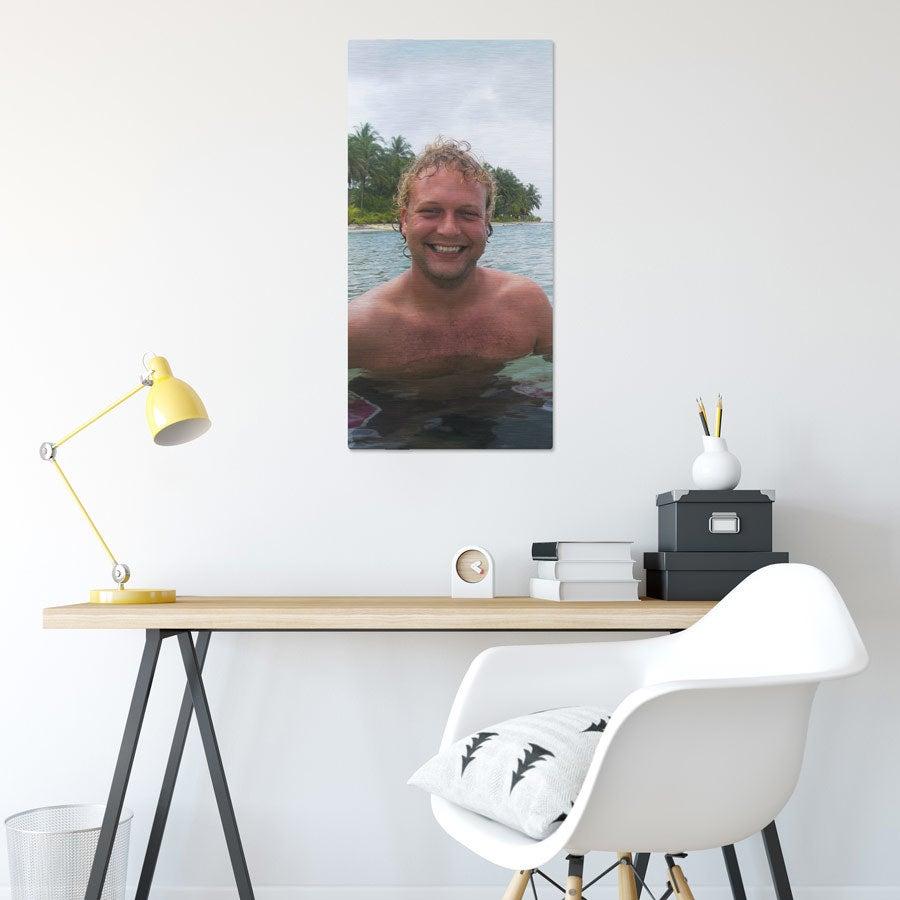 Foto op aluminium afdrukken - Geborsteld (ChromaLuxe) - 40 x 80 cm