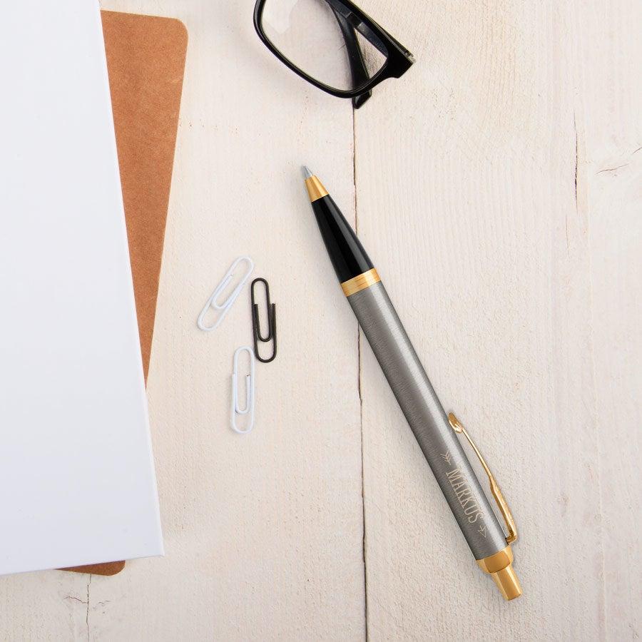 Parker - IM - Kugelschreiber - Rechtshänder (Metall gebürstet)