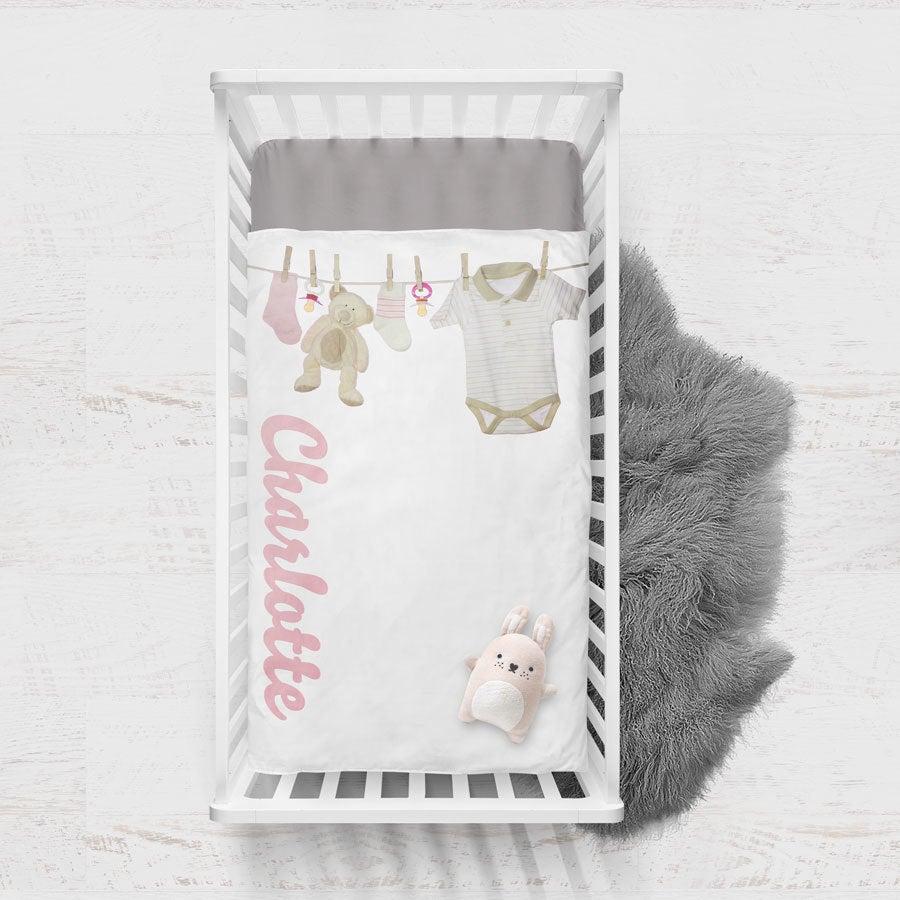 Housse de couette imprimée bébé - 70x100 cm - Coton