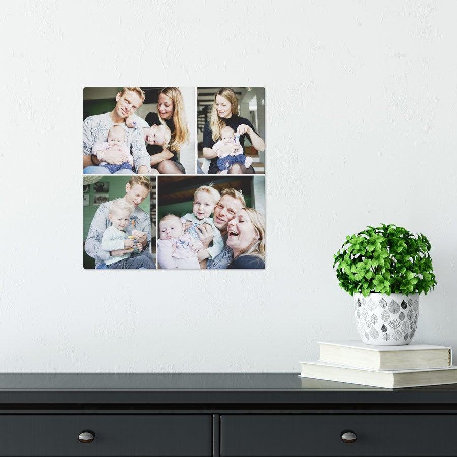 ChromaLuxe Alumiininen valokuvapaneeli - Harjattu (30x30cm)