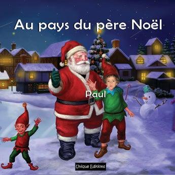 Livre personnalisé - Au pays du père Noël