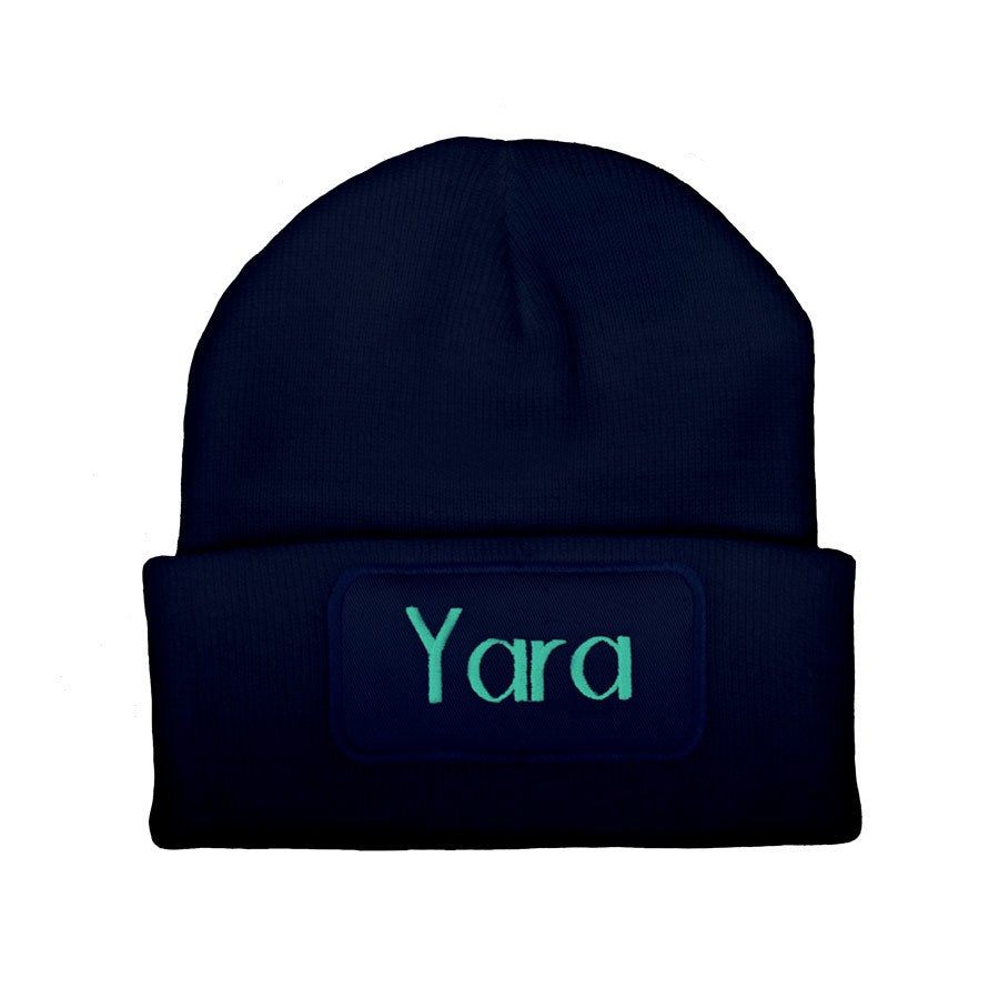 Embroidered beanie - Navy