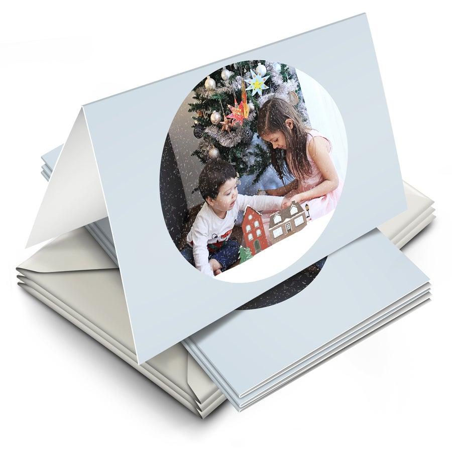 Julkort med foto - 10 st dubbla