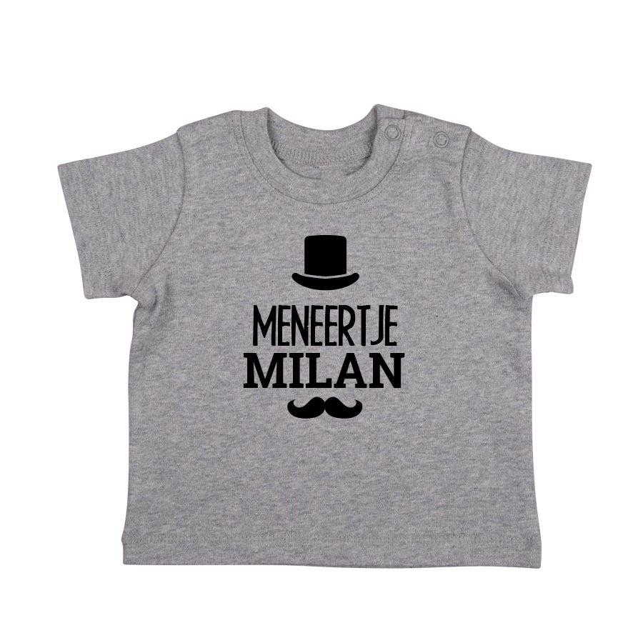 Baby T-shirt - Korte mouw - Grijs melange - 50/56