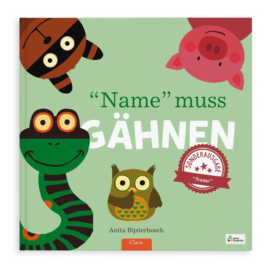 Kinderbuch - Jeder gähnt - XXL Aufklappbuch