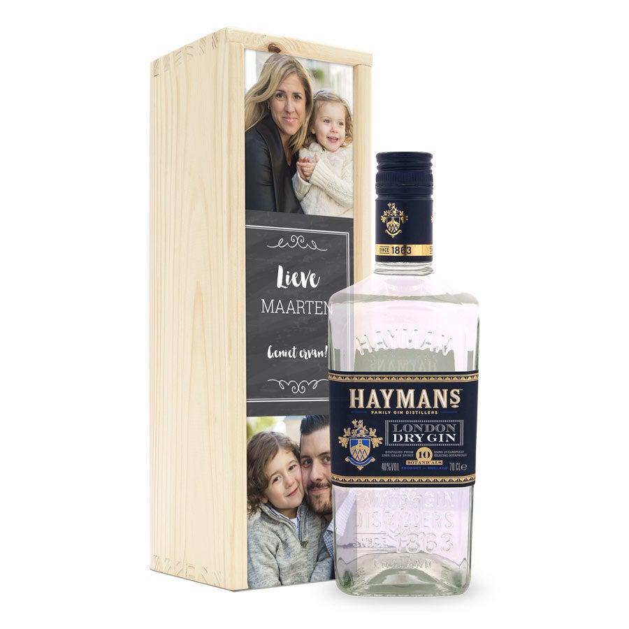 Gin in bedrukte kist - Hayman's London Dry