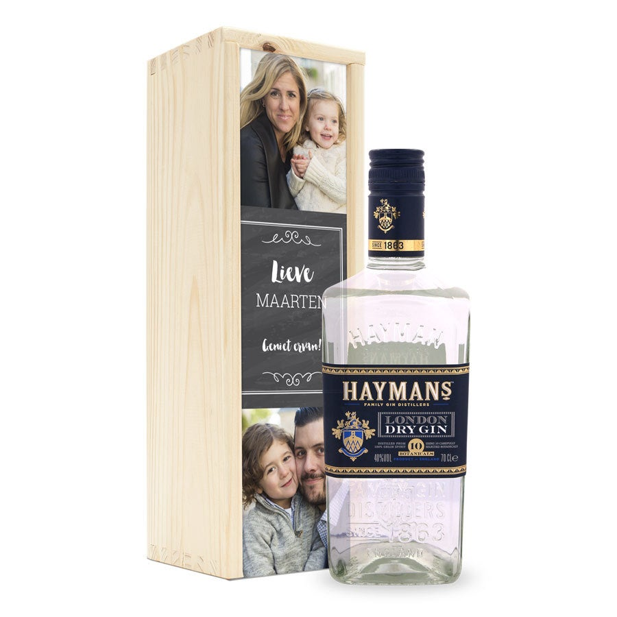 Gin in bedrukte kist - Hayman's London Dry