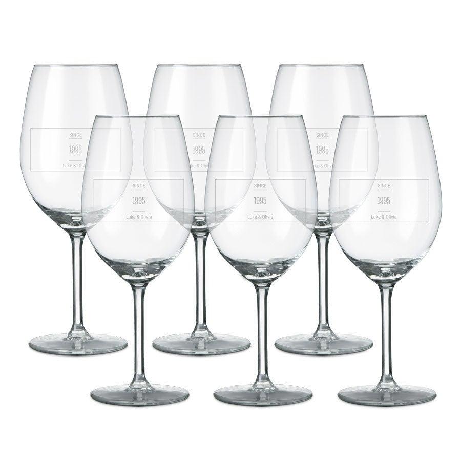 Glass – Rødvin (sett med 6 stk.)