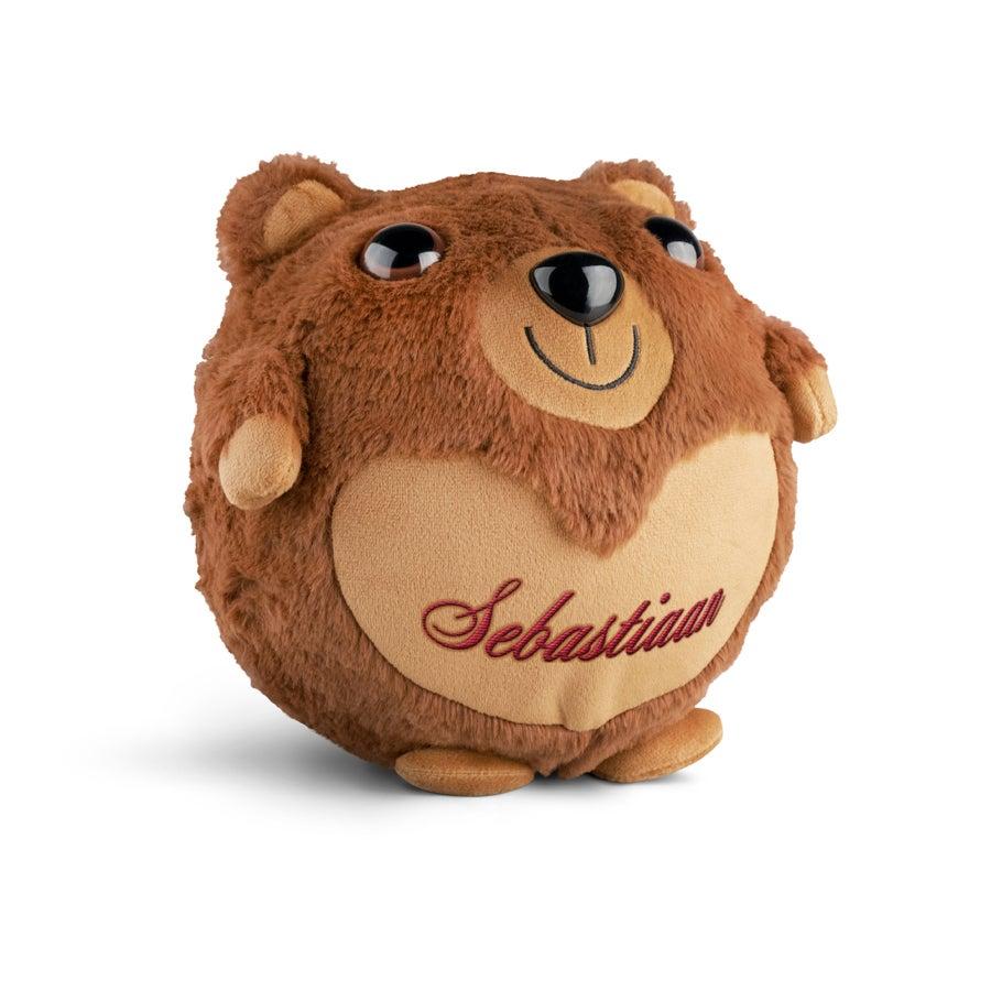 Opblaasbare knuffel teddybeer met naam