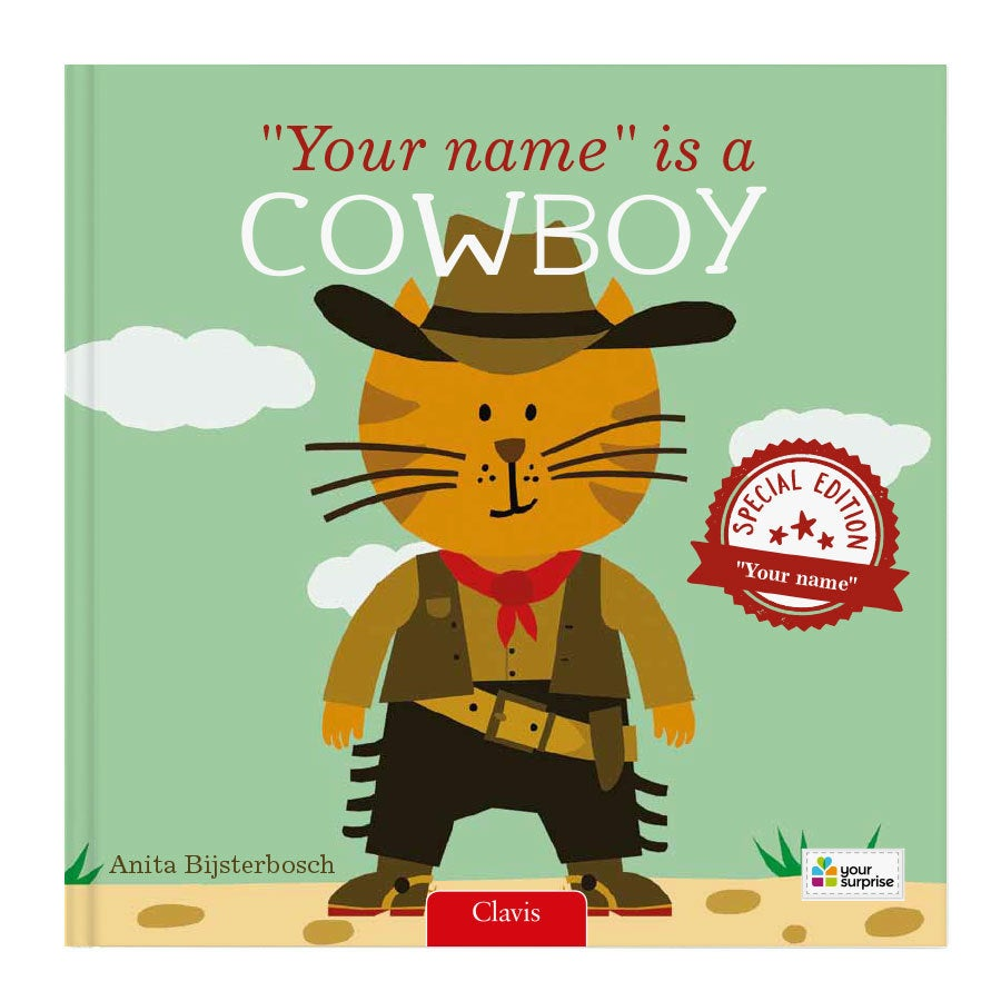 Book with name - Your name is a cowboy  (Softcover)
